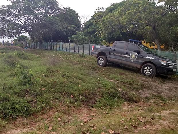 Corpo da menina foi encontrado em Jenipabu, no município de Extremoz, na Grande Natal (Foto: Bessie Cavalcanti/ Inter TV Cabugi)