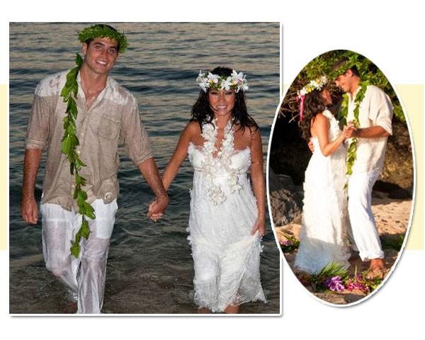 Dani Suzuki fez seu próprio vestido de casamento (Foto: Reprodução)