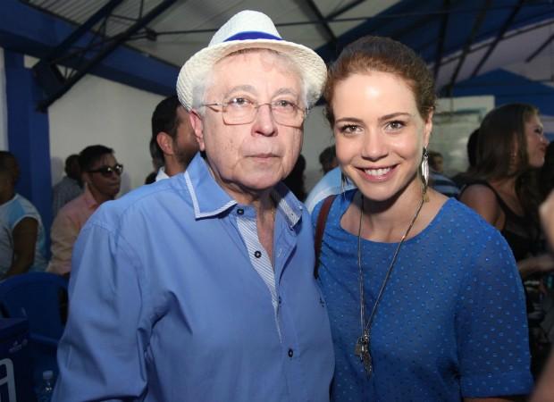 Leandra Leal e Aguinaldo Silva (Foto: Claudio Andrade/Photo Rio News)