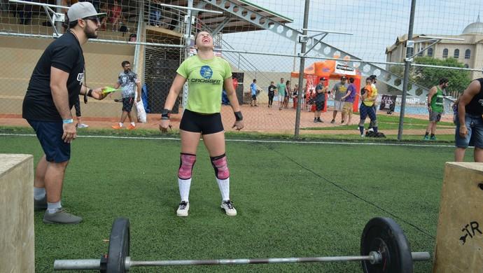 Atleta crossfit no 1º Wood River Games em Porto velho (Foto: Lívia Costa)