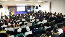 Estudantes do Senai serão multiplicadores da TV Digital (Priscilla Fiedler/RPC)
