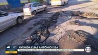 Por causa de temporal, trânsito flui apenas em uma pista na Av. Elias Antônio Issa, em BH
