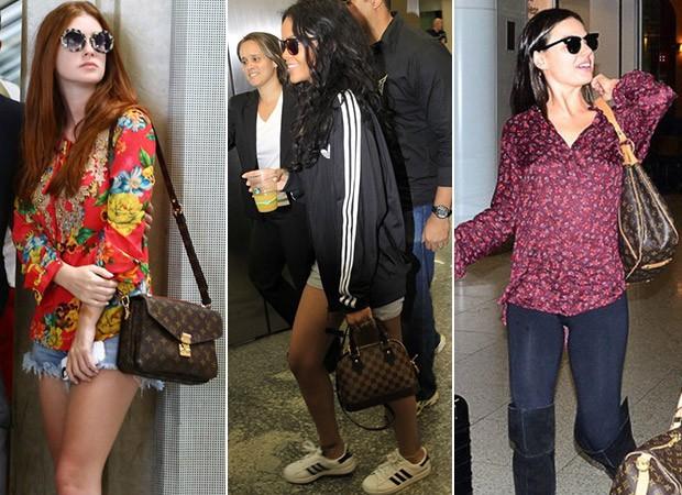 [MODA] Bolsas Louis Vuitton - Marina Ruy Barbosa, Rihanna e Isis Valverde (Foto: Agnews )