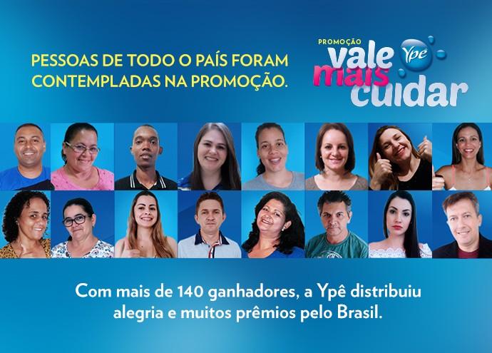 Conheça alguns ganhadores da Promoção Ypê (Foto: Divulgação)