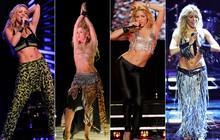 Brilhos, barriguinha de fora e muito preto: no aniversário de Shakira, confira o estilo da cantora