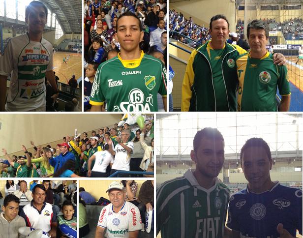 Mosaico torcida Copa dos Campeões da TV TEM futsal XV Jaú (Foto: Marcus Vinícius Souza)