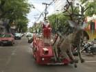 Papai Noel que teve 'trenó' apreendido fez veículo adaptado de carro de 1976