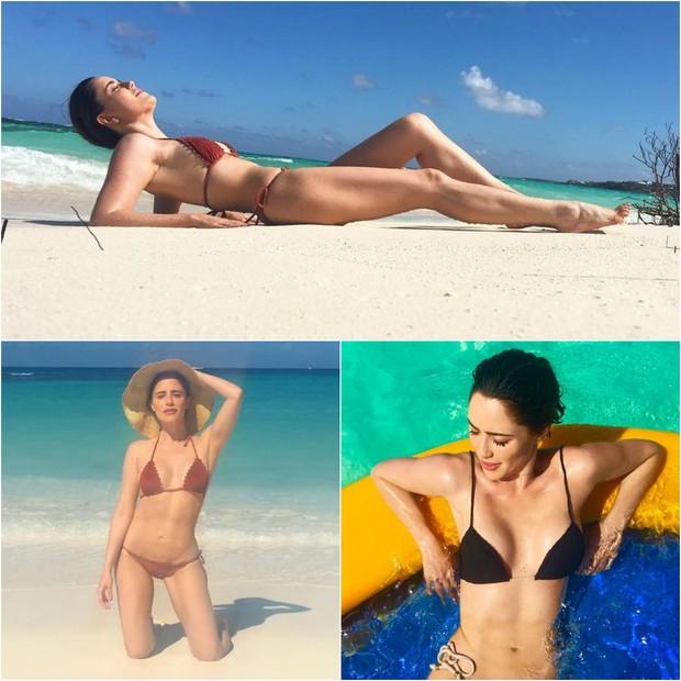 Fernanda Vaconcellos em fotos compartilhadas por ela em seu perfil no Instagram após passar do manequim 38 para o 34 (Foto: Reprodução/Instagram)