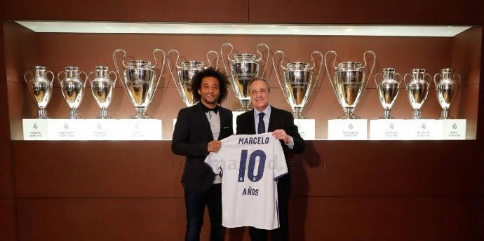 BLOG: Marcelo recebe homenagem de Florentino Pérez pelos dez anos de Real Madrid