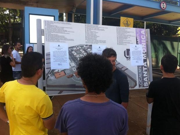 Provas do Enem adiadas na UFU em Uberlândia (Foto: Emerson Jardim/G1)