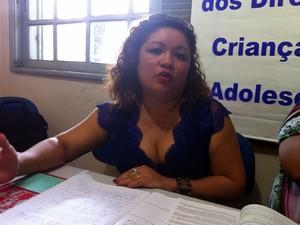 Vice-presidente Comdca, Flora Aparecida. (Foto: Luana Leão/G1)