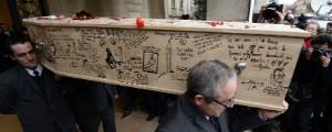 ACOMPANHE: vítimas do 'Charlie Hebdo' são enterradas na França (Bertrand Guay/AFP)
