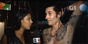 Dinho Ouro Preto fala do protesto em show (Reprodução/G1)