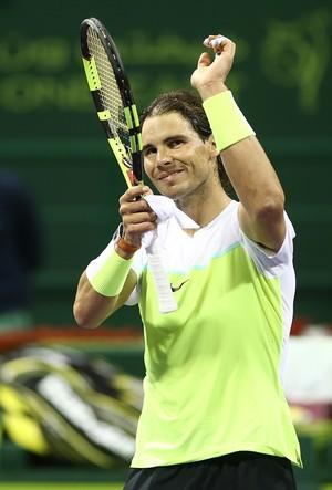 Rafael Nadal vence Robin Haase pela segunda rodada do ATP de Doha (Foto: AFP)