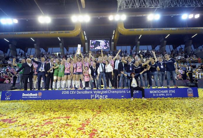 Pomi Casalmaggiore é campeão da Liga dos Campeões (Foto: CEV / Site oficial)