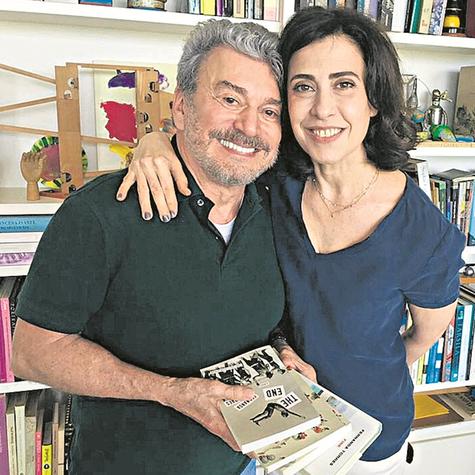Edney Silvestre e Fernanda Torres (Foto: Companhia das letras/Felipe Maciel)