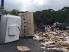 Colisão entre carretas deixa feridos e bloqueia parte da BR-101 em Pilar