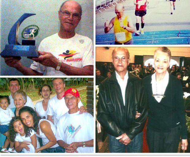 montagem corredor Antônio Lopes 85 anos Eu Atleta (Foto: Editoria de Arte)