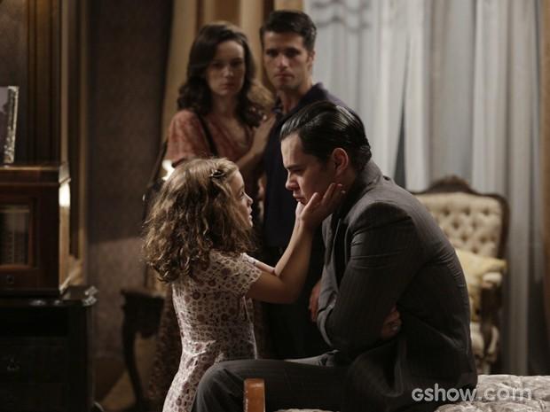 Será que Pérola vai conseguir tocar o coração do vilão? (Foto: Fábio Rocha/TV Globo)
