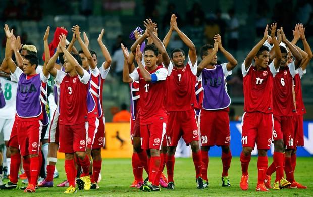 jogadores do taiti, Taiti x Nigéria (Foto: Reuters)
