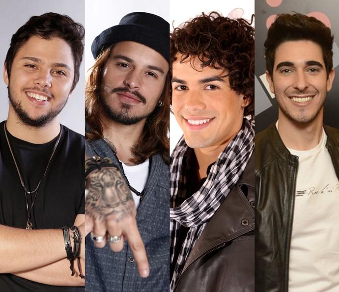 Renato, Kim, Sam e Gustavo estão na lista dos mais gatos do reality (Foto: Gshow)
