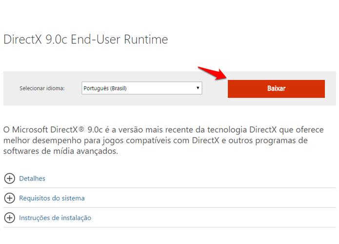 descargar directx runtime para windows 10