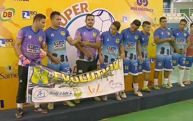 Time Evolution fica em 2º lugar na Super Copa Rede Amazônica de Futsal (Foto: Bom Dia Amazônia)