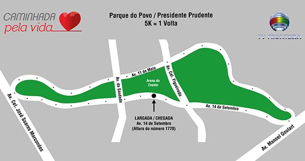mapa do percurso (Foto: Marketing/ TV Fronteira)