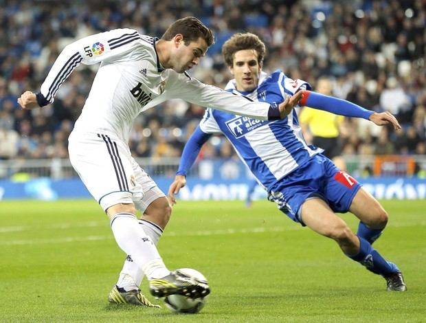 Morata e Selvas, Real Madrid e Alcoyano, AP (Foto: Agência AP)