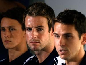 James Magnussen, Eamon Sullivan,  Cameron McEvoy coletiva nataçao (Foto: Reuters)