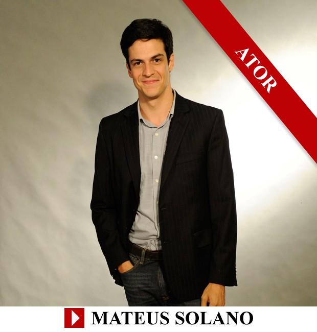 Premio QUEM 2013 Ator Mateus Solano (Foto: Arte: Eduardo Garcia)