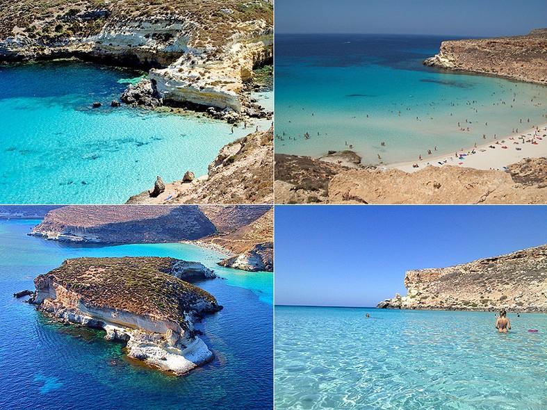 ISOLA DEI CONIGLI (Sicília, Itália): Considerada a melhor praia de 2013 por suas águas cristalinas e longa extensão de areia branca. Não há nenhum tipo de bar ou restaurante instalados na orla, o que valoriza ainda mais a beleza natural do lugar