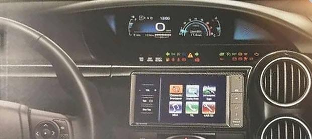 Novo quadro de instrumentos digital do Toyota Etios 2017 (Foto: Reprodução)
