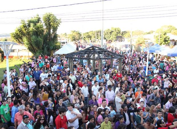 RPC TV na Praça em Cascavel (Foto: Divulgação/RPC TV )