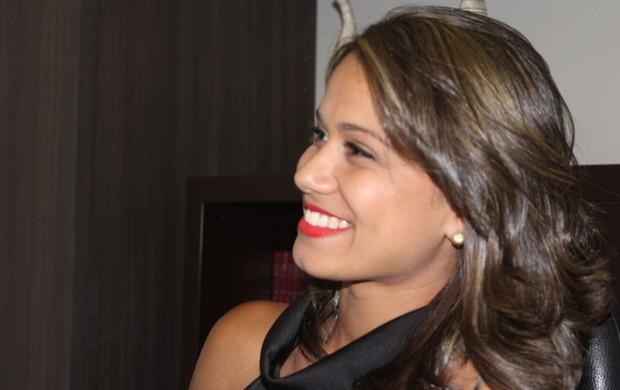 Izabela Araújo, estudante de radiologia, que deu um beijo no Fred do Fluminense (Foto:  Maurício Paulucci)