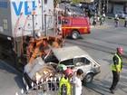Simulação de acidente entre trem e carro é realizada em Divinópolis