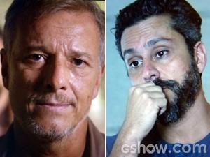 Kléber mente para Hermes em conversa através do comunicador (Foto: Além do Horizonte/TV Globo)