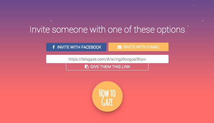 Escolha se quer convidar via Facebook, e-mail ou copiando e colando o link (Foto: Reprodução/Paulo Alves)