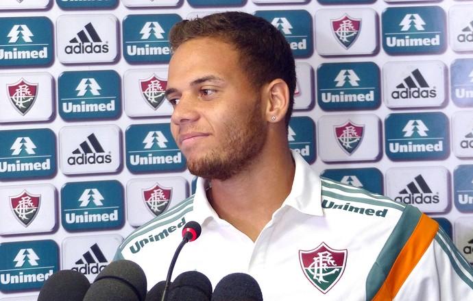 Rafinha, Coletiva Fluminense (Foto: Fred Gomes / Globoesporte.com)