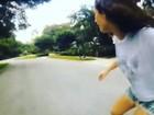 Lívian Aragão mostra habilidade no skate