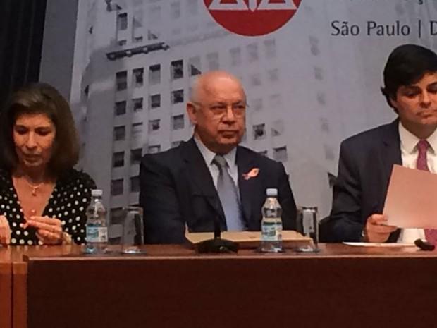 Ministro do STF Teori Zavascki participa de evento com advogados em São Paulo (Foto: Roney Domingos/G1)