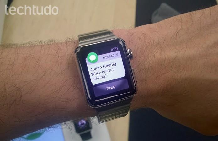 Tela de notificações do Apple Watch (Foto: Elson de Souza/TechTudo)
