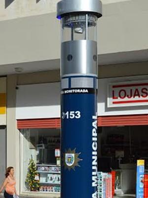 Equipamento da Guarda Municipal instalado na Rua Treze de Maio, em Campinas (Foto: Régis Esteves/Divulgação Guarda Municipal)