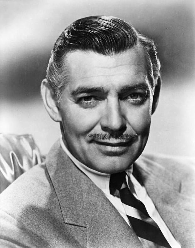 Clark Gable e seu bigode indefectível (Foto: Reprodução)