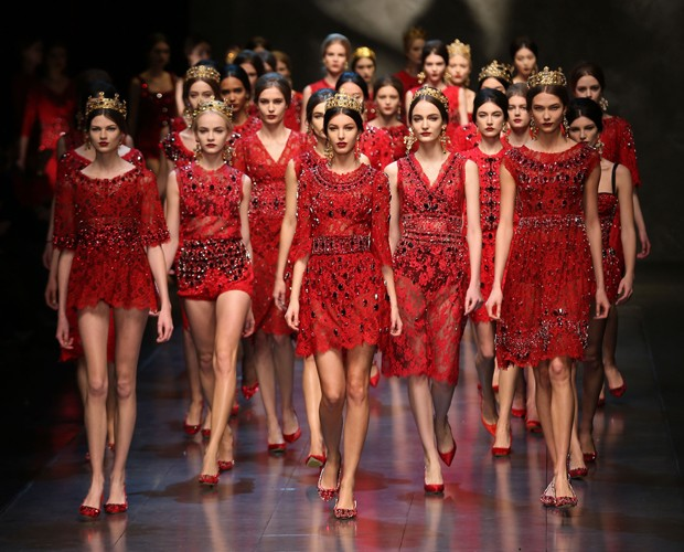 Dolce&Gabbana, inverno 2014 (Foto: Getty Images)