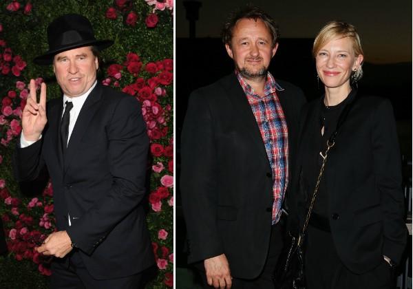 Val Kilmer, a atriz Cate Blanchett e o marido (Foto: Getty Images)