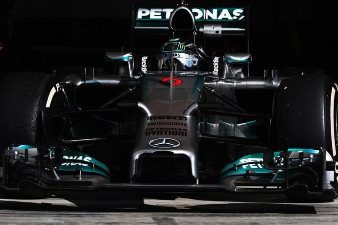 Nico Rosberg cravou a melhor volta da semana neste sábado, com 1s6 de vantagem para Jenson Button (Foto: Getty Images)
