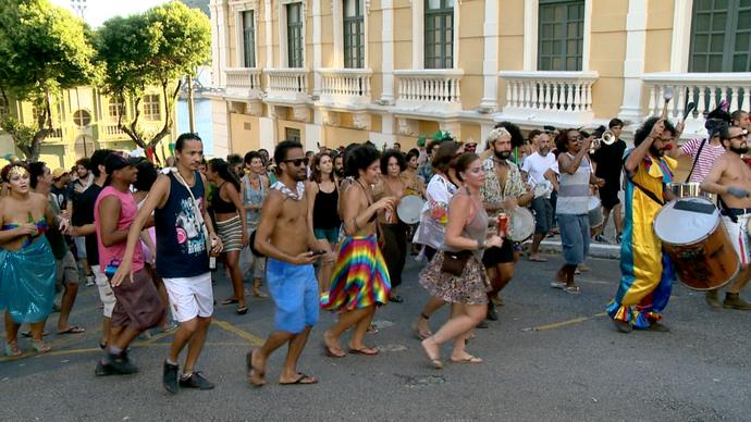 Blocos de rua animam o carnaval capixaba (Foto: Divulgação/ TV Gazeta ES)