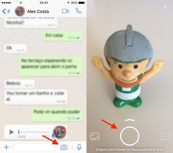 Caminho para criar uma GIF no WhatsApp (Foto: Reprodução/Marvin Costa)