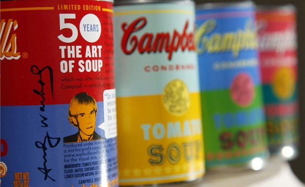 Edições limitadas da sopa Campbell, em homenagem a Andy Warhol, divulgadas  nesta quarta ( 368eb33806